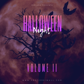 Halloween Night Volume 2 Mixtape Cover template