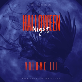 Halloween Night Volume 3 Mixtape Cover template