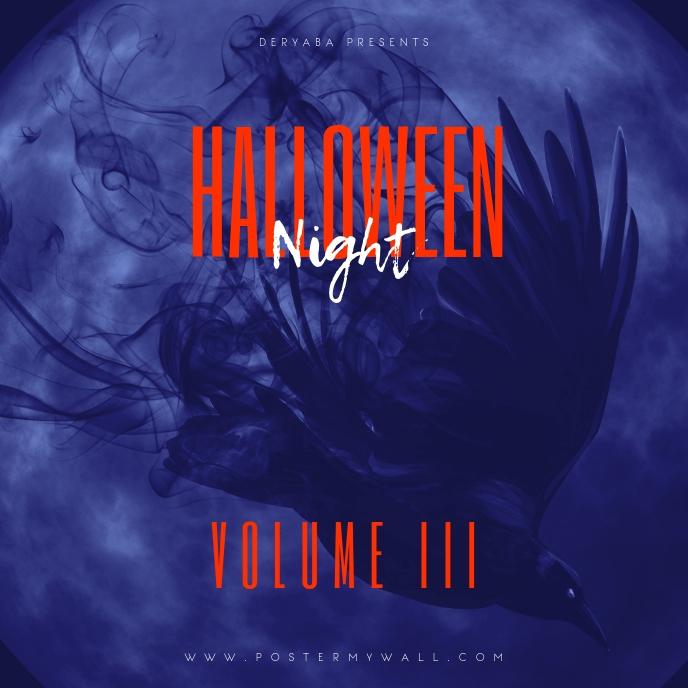 Halloween Night Volume 3 Mixtape Cover Portada de Álbum template