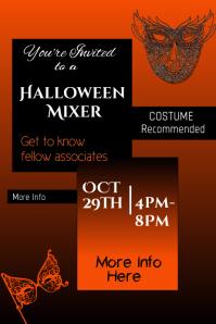 Halloween Office Mixer Poster template
