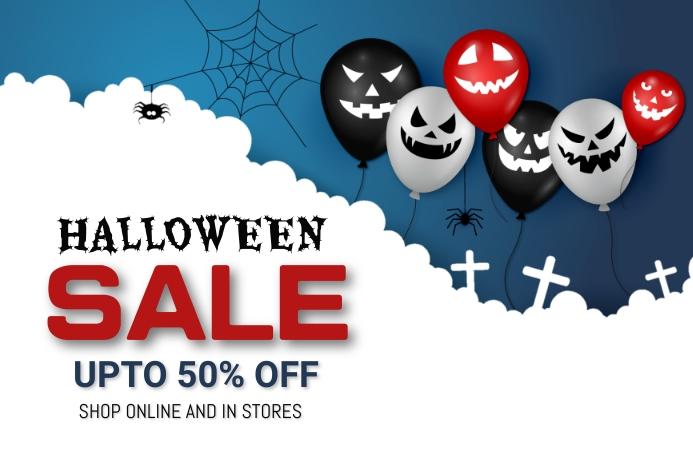 Halloween party,Halloween costume contest Banner 4' × 6' template