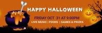 Halloween party,Halloween costume contest Twitter Header template