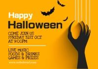 Halloween party,Halloween costume contest Cartolina template