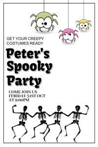 Halloween party,Halloween costume contest Pinterest-Grafik template