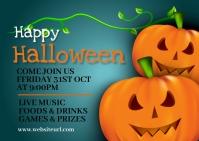 Halloween party,Halloween costume contest Postkarte template