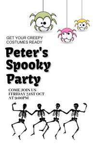 Halloween party,Halloween costume contest Pinterest na Graphic template