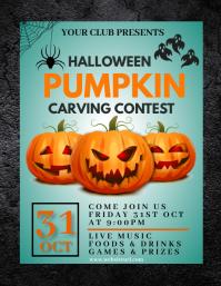 Halloween party,Halloween costume contest 传单(美国信函) template
