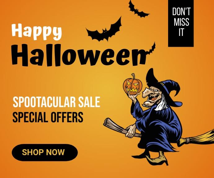 Halloween party,Halloween costume contest Mellemstort rektangel template