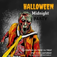 Halloween party,Halloween sale,party Wpis na Instagrama template