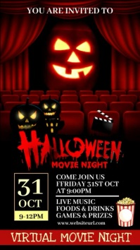 Halloween party,Halloween sale,party Digital Display (9:16) template