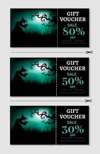 Halloween party,Halloween sale,voucher Tabloid template