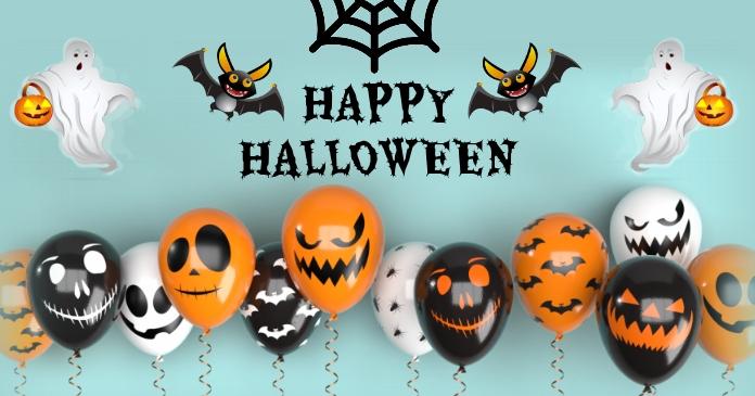 Halloween party,Halloween sale delt Facebook-billede template