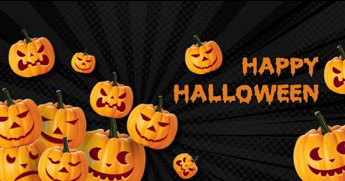 Halloween party,Halloween sale Gambar Bersama Facebook template