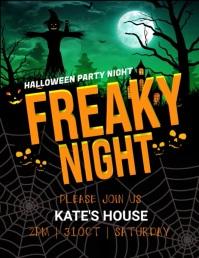 Halloween party,Halloween sale Рекламная листовка (US Letter) template