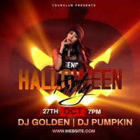 HALLOWEEN PARTY AD DESIGN TEMPLATE