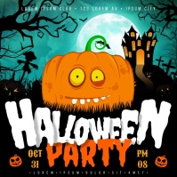 HALLOWEEN PARTY ANIMATED BANNER Vierkant (1:1) template