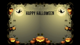 Halloween Party background Presentation (16:9) template