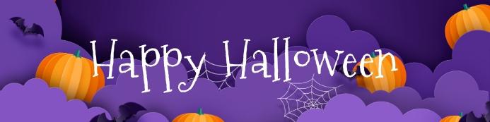 Halloween Party Banner Баннер 2 фута × 8 футов template