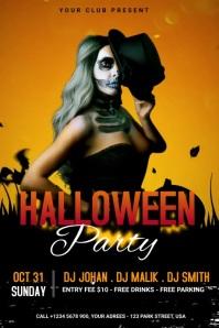 Halloween Party Banner Cartel de 4 × 6 pulg. template