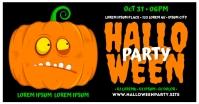 HALLOWEEN PARTY BANNER Gambar Bersama Facebook template