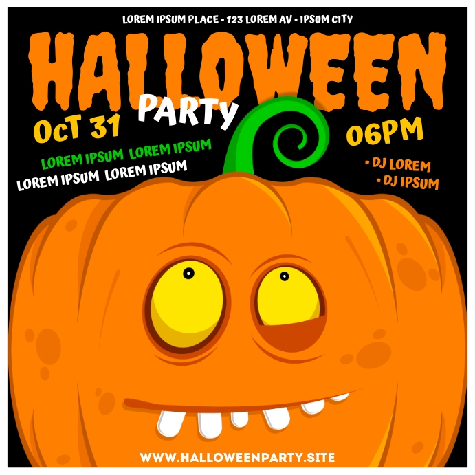 HALLOWEEN PARTY BANNER Wpis na Instagrama template