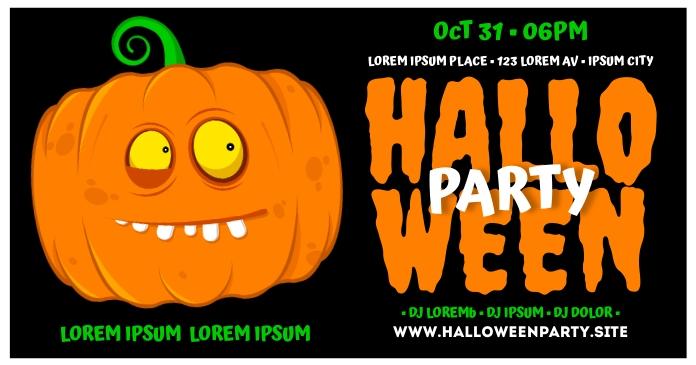 HALLOWEEN PARTY BANNER delt Facebook-billede template