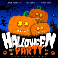 HALLOWEEN PARTY BANNER Square (1:1) template