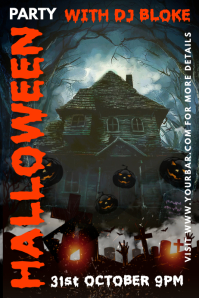 Halloween Party Bar Template