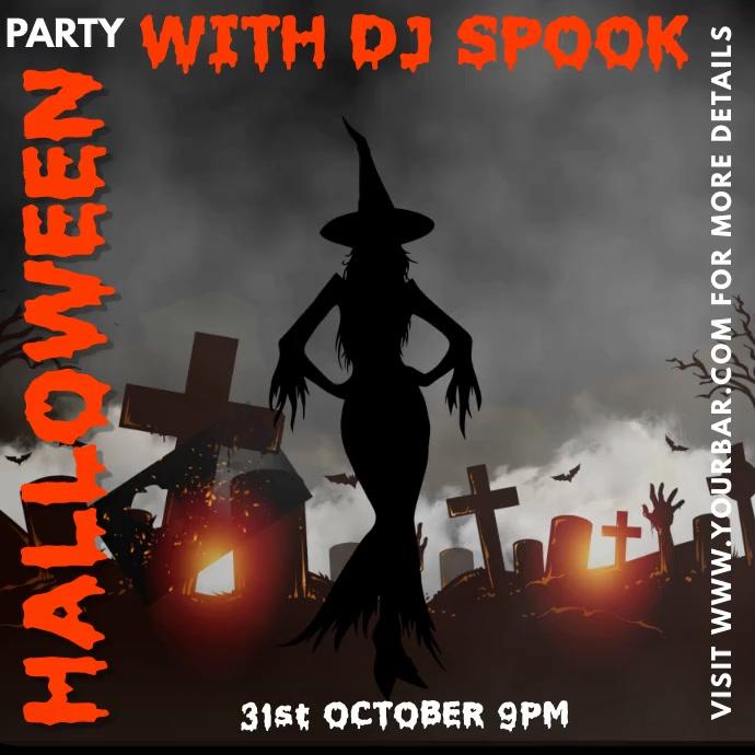 Halloween Party Bar Template Kvadrat (1:1)
