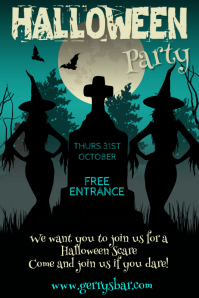 Halloween Party Bar Template Poster