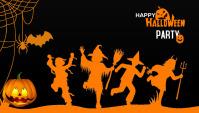 Halloween party blog header post template