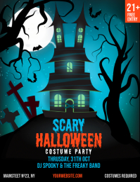Halloween Party Club Invitation Templat Flyer (US Letter) template