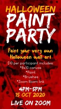Halloween party เรื่องราวบน Instagram template