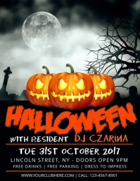 Customize 12460 party flyer templates postermywall halloween party maxwellsz