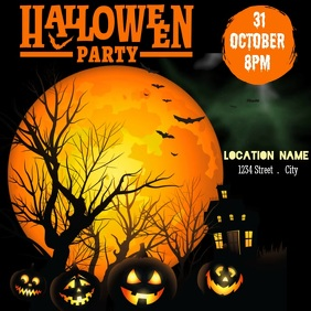 Halloween Party Instagram Post template
