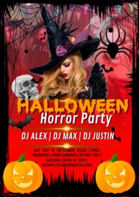 HALLOWEEN PARTY A4 template