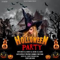 halloween party Publicação no Instagram template