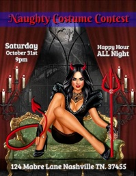 Halloween Party Flyer (US Letter) template