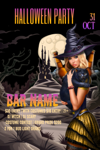 Halloween Party Pinterest Grafieka template