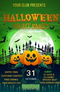 Halloween party Meia página larga template