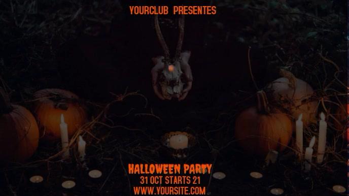HALLOWEEN PARTY Tampilan Digital (16:9) template