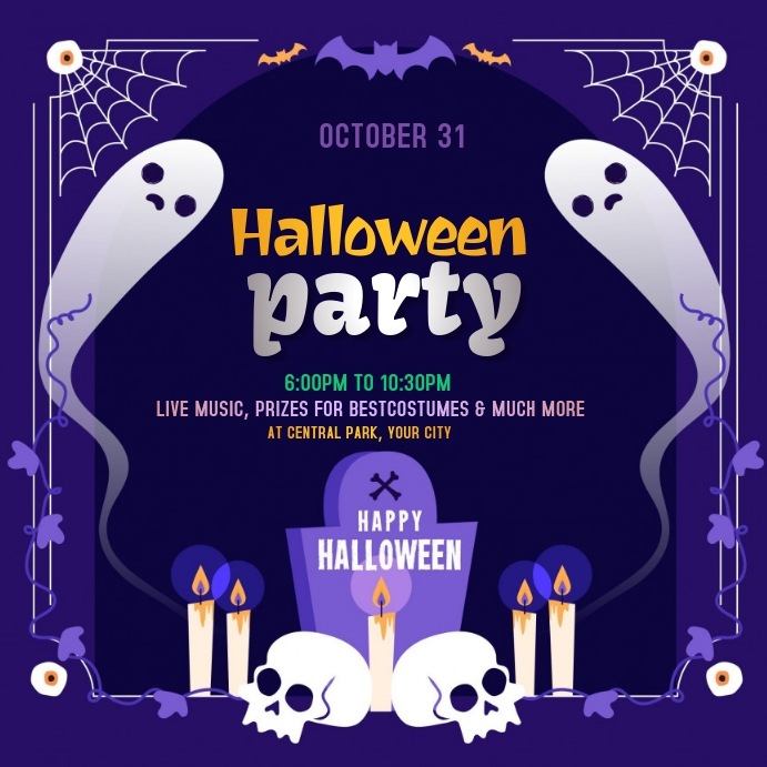 Halloween Party Cuadrado (1:1) template
