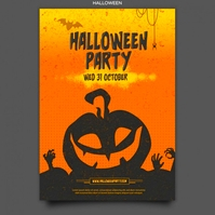 halloween party Logo template