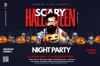 Halloween Party Spanduk 4' × 6' template