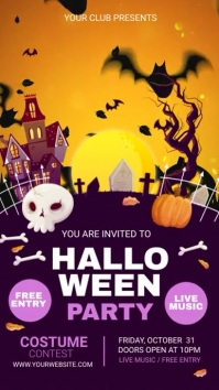 halloween party 数字显示屏 (9:16) template