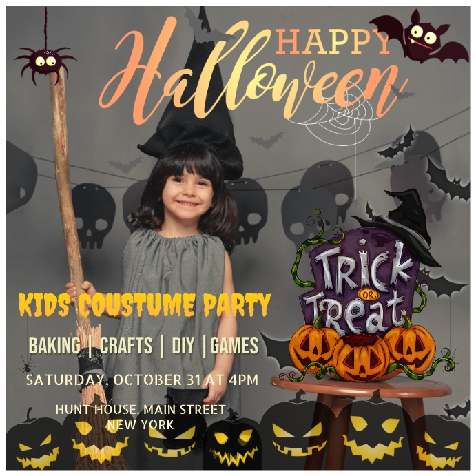 Halloween Party Message Instagram template