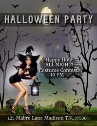 Halloween Party Рекламная листовка (US Letter) template