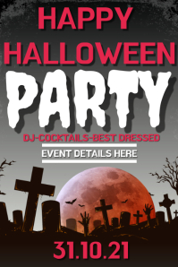 HALLOWEEN PARTY Póster template