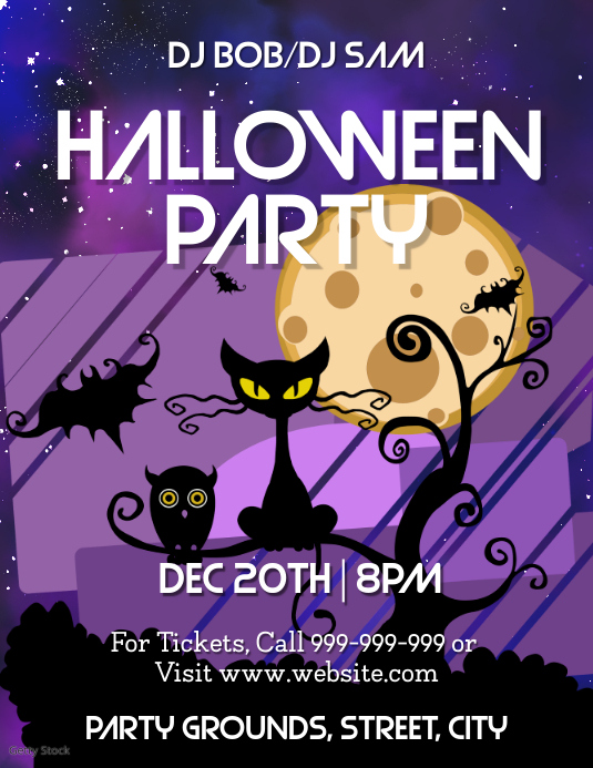 Halloween Party Volante (Carta US) template