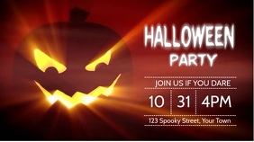 Halloween Party Digital Display (16:9) template